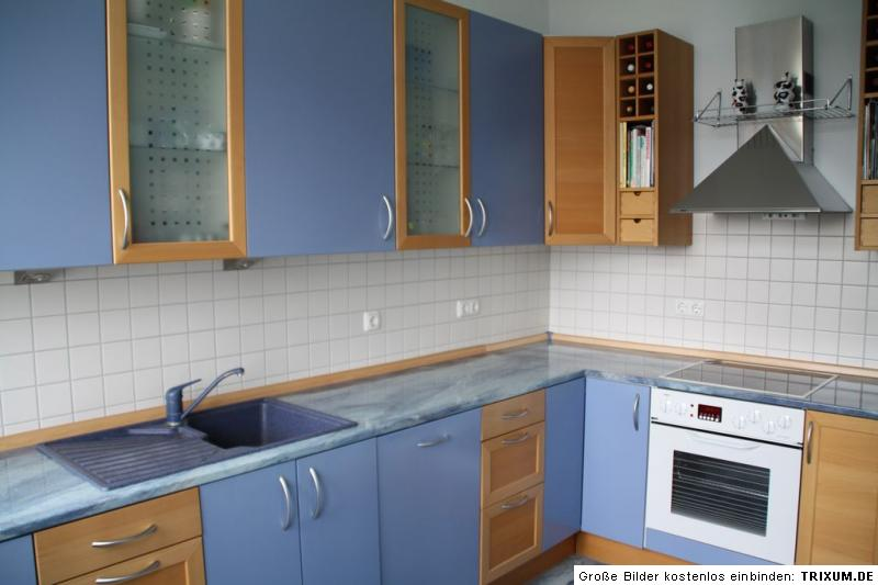 Ikea Küche Faktum Kalsebo Buche  Blau Mit Elektrogeräten