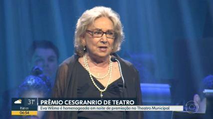 Eva Wilma é homenageada em noite de premiação no Copacabana Palace