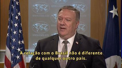 Mike Pompeo says Brazil will not have special treatment to enter the US