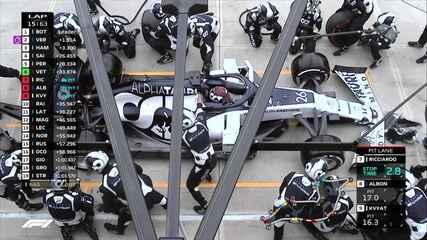 Ricciardo, Albon e Kvyat vão para os boxes
