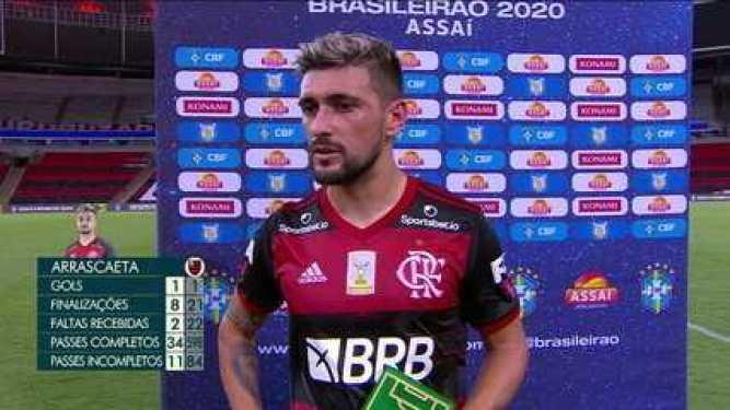 """Craque do Jogo, Arrascaeta, sobre a derrota do Flamengo para o Fluminense: """"Temos que sair com vergonha"""""""