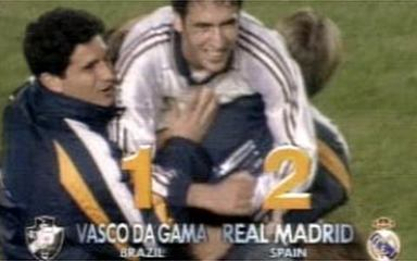In 1998, best moments of Real Madrid 2 x 1 Vasco, in the final of the Club World Cup