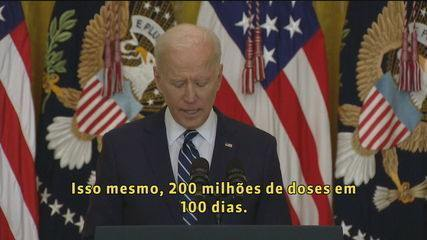 Biden doubles goal and wants to give 200 million vaccines against Covid in 100 days