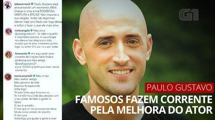 VIDEO: celebrities, relatives and friends make prayer chain for the improvement of Paulo Gustavo