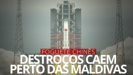 VÍDEO: Destroços de foguete chinês devem cair no mar dos EUA em 8 de maio