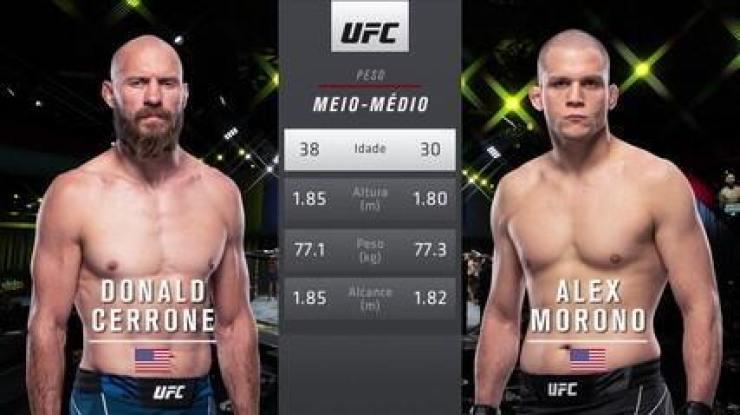 UFC Rodriguez x Waterson - Donald Cerrone x Alex Morono