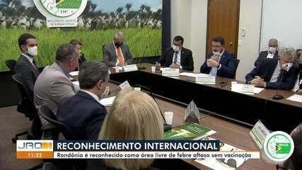 Rondônia é reconhecido internacionalmente como área livre de febre aftosa sem vacinação
