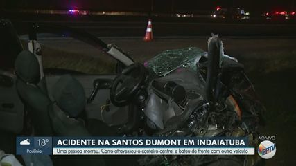 Acidente entre três carros deixa mulher morta na Rodovia Santos Dumont em Indaiatuba