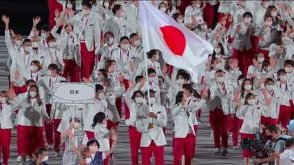 Donos da casa, Japão fecha o desfile das delegações na cerimônia de abertura de Tóquio 2020