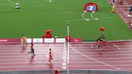 Viviane Soares takes second in the women's 100m heat T12 after Chinese disqualification - Tokyo Paralympics