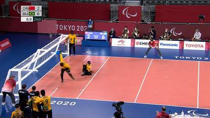 China 2 x 7 Brazil goals in the Men's Goalball Final - Tokyo Paralympics