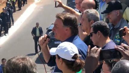 Bolsonaro volta a atacar o STF e o sistema eleitoral em atos com pautas antidemocráticas