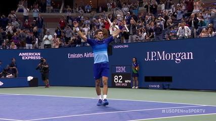 Djokovic closes the fifth set and the game