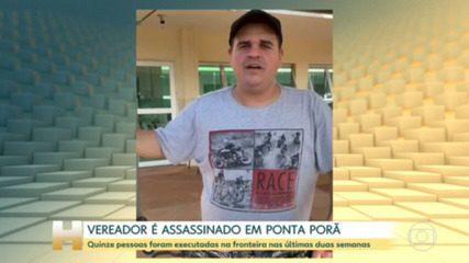 Vereador é assassinado em Ponta Porã (MS) enquanto fazia passeio de bicicleta