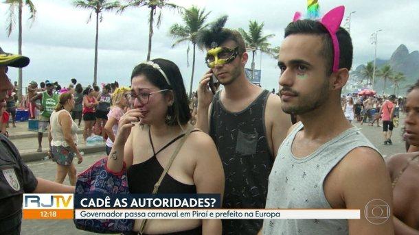 Governador e prefeito do Rio passam o carnaval longe da cidade