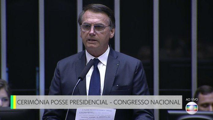 Discurso de posse do presidente Jair Bolsonaro no Congresso Nacional