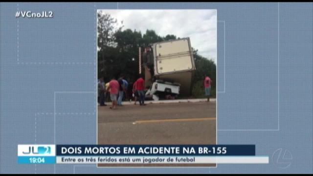 Jogador paraense Thiago Brito sofre acidente na BR-155 em Marabá, no Pará