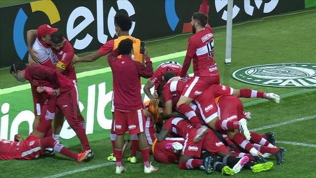 Os pênaltis de Palmeiras 0 (3) x (4) 1 CRB pela 3ª fase da Copa do Brasil