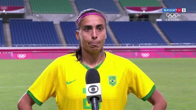 """Andressa Alves fala do desempenho do Brasil contra a Zâmbia: """"É um jogo de cada vez"""""""