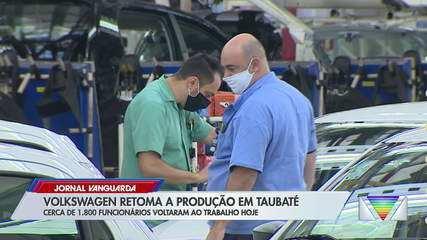 Volkswagen retoma produção em Taubaté após dois meses de paralisação