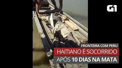 Imigrante haitiano de 36 anos cai de ponte que liga o Acre ao Peru e fica 10 dias na mata
