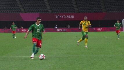 Os Gols de África do Sul 0 x 3 México pela fase de grupos do futebol masculino