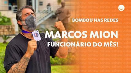 Marcos Mion shows off new place of work and fans go wild with animation from the presenter