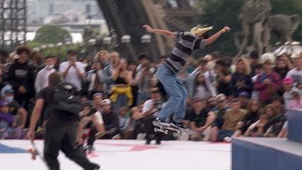 Por unanimidade, a japonesa Aori Nishimura é a primeira finalista no torneio de skate street