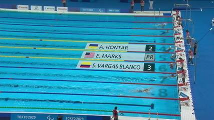 Laila Suzigan takes 5th heat in the 50m freestyle S6 women's qualifier - Tokyo 2020 Paralympics