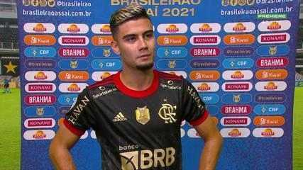 Newcomer Andreas Pereira talks about a goal that closed Flamengo's rout