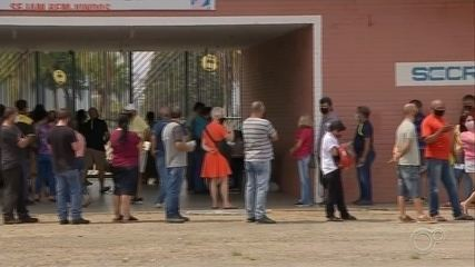 Sorocaba has a morning of lines at Covid-19 vaccination points