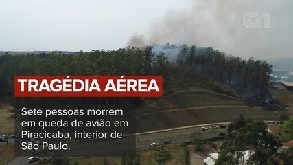 See aerial images of the place where the plane crashed in Piracicaba
