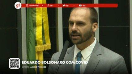 G1 em 1 Minuto: Após viagem a NY com o pai, Eduardo Bolsonaro diz que está com Covid