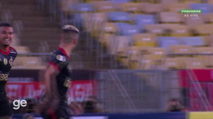 At 34 min of the 1st half - free-kick by Andreas Pereira do Flamengo against Juventude