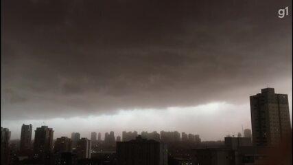 Cities in the region of Ribeirão Preto, SP, record rain this Thursday (14)