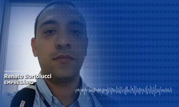 Renato Bortolucci, 38, said he was hit in a message sent by a chat app