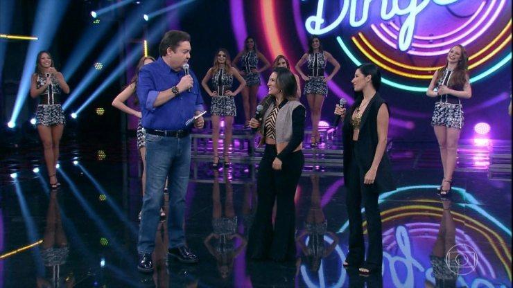 Simone e Simaria relembram participação no 'Domingão' ao lado de Frank Aguiar