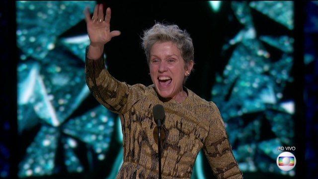 Frances McDormand ganha o Oscar de Melhor Atriz