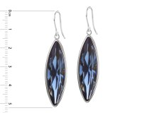 Silver earrings with crystal / Artelioni