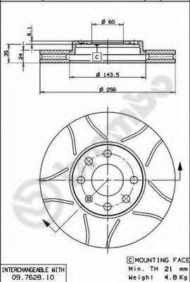 Disc frana OPEL Astra G (F35_) 1.7 DTI 16V (55KW / 75CP