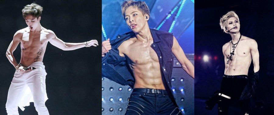 Các idol nam luôn cực thu hút với body lực lưỡng. (Ảnh: Internet)