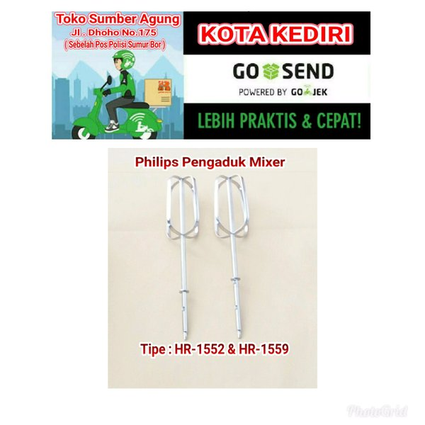 Philips Sparepart Pengaduk Mixer HR 1552