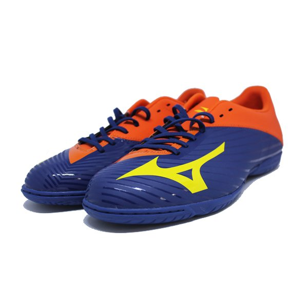 SEPATU FUTSAL MIZUNO BASARA 103 IN PURPLE YELLOW ORANGE