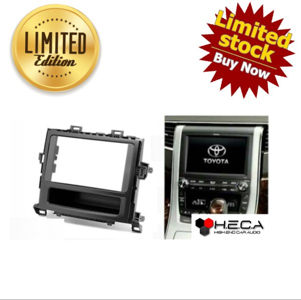 alarm motor Frame OEM-Fit Double Din Head Unit TOYOTA ALPHARD 2008 with pocket ready stok
