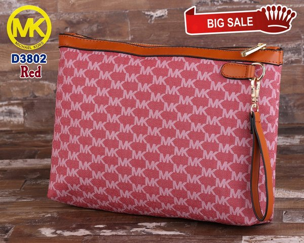 tas wanita mi chael kors MK Zipper Document Pouch handbag mewah branded import casual simple elegan pesta santai sale rebutan