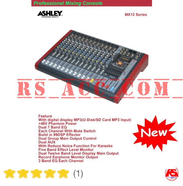 Professional Mixing Ashley Console Mx12 ( 12 Channel ) Resmi Ashley