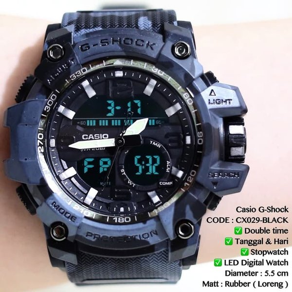 Jam tangan pria CASIO rubber karet termurah import analog digital new