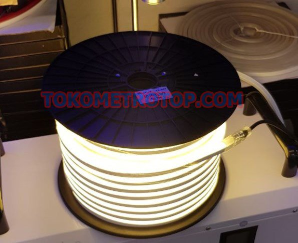 Lampu Led Neon Flex Lampu Selang Strip Warm WHITE 10 Meter