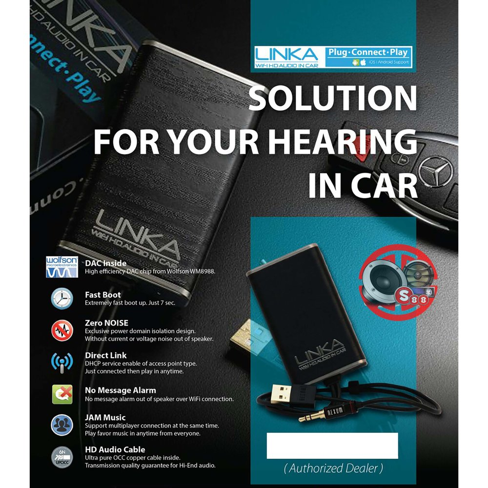 hight resolution of linka car hi fi dac support ios android lossless music streaming