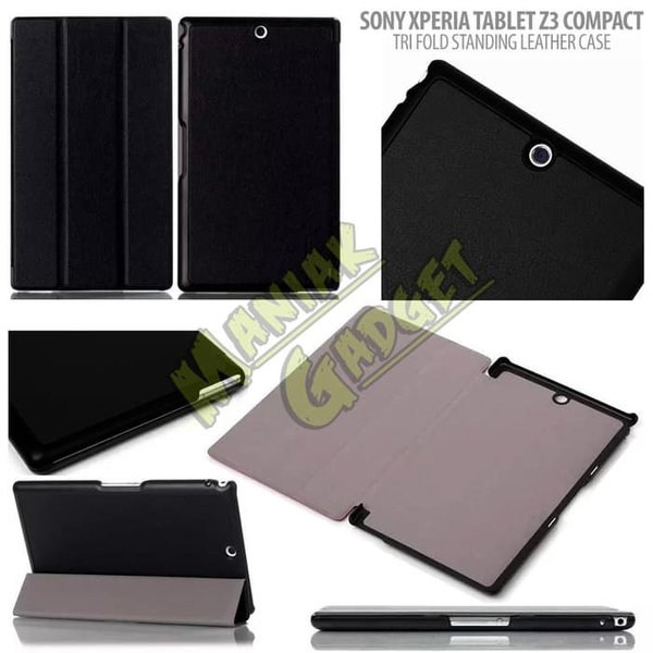 Jual Trifold Standing Leather Case Sony Xperia Tablet Z3 Compact Murah Sale